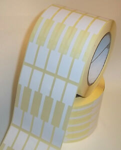 2000 Blank White Thermal Jewellery Price Labels Stickers Tags 15 X 100mm