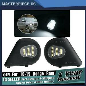 Led Side Mirror Puddle Lights For Dodge Ram 10 19 1500 2500 3500 4500 5500 Truck