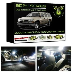 16 White Led Interior Lights Package Kit For 2000 2006 Chevy Tahoe suburban 3014