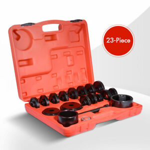 23pc Front Wheel Bearing Press Kit Removal Adapter Puller Pulley Tool Case Xc812