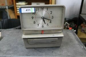 Vintage Heavy Metal Simplex Time Clock Recorder Punch Card From A Piggly Wiggly
