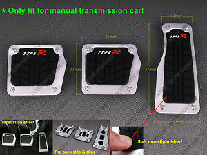 Universal Mt Car Non slip Accelerator Brake Clutch Foot Pedals Treadle Cover Pad