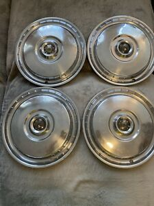 Lot Of 4 Vintage 1955 Ford Fairlane thunderbird 15 Hubcaps