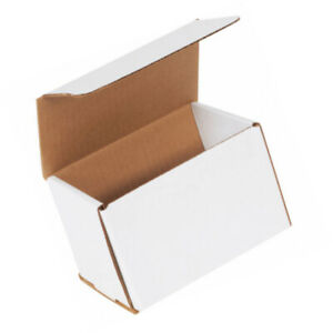 50 Each 6 x4 x4 White Corrugated Mailers Packing Boxes Mailer Shipping 6x4x4