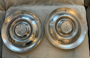 Lot Of 2 Vintage 1954 Lincoln Mark Continental Premier Town Car 15 Hubcaps