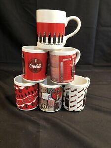 Six Assorted Coca-Cola Mugs