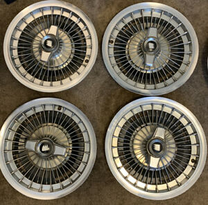 Lot Of 4 Vintage Rare 1970s Buick 16 Wire Spoke Hubcap Wheel Cover