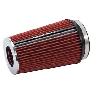 Edelbrock 43681 Conical Air Filter Red Chrome New