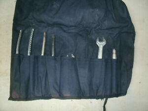Vintage Mercedes Benz Tool Kit Roll Blue Bag Pouch 80 s 90 s Heyco Spares