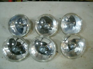 Clear Par36 6v Lot Lights Vtg Emergency Police Fire Lightbar Unity Spotlight
