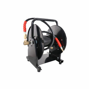 5000 Psi 3 8 X 200 Hose Reel For High Pressure Power Washer And Sewer Jetter