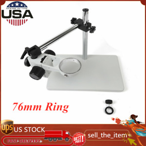 Boom Stereo Microscope Camera Table Stand 76mm Ring Microscope Focusing Holder