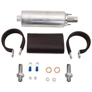 Universal High Flow Pressure External Inline 255lph Fuel Pump Kit 12v Gsl392