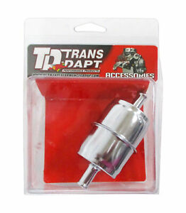 Trans Dapt Performance Products Chrome Fuel Filter Inlet Outlet 3 8 9177