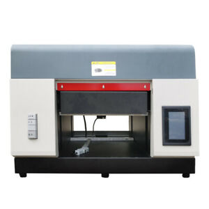 Sinewyato A3 Uv Dtg Flatbed Printer Cylindrical Signs Glass Metal Rotation New