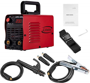 Arc Welder 110v 200a Welding Machine Igbt Inverter Dc Mini Electric red