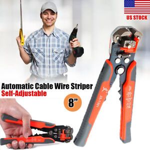 Automatic Wire Striper Cutter Crimper Pliers Metal Electric Cable Terminal Tool
