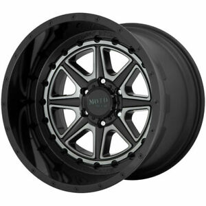 22x12 Black Gray Tint Wheels Moto Metal Mo801 Phantom 5x5 5x127 44 set Of 4