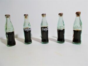 5 Vintage Miniature Glass Coca-Cola Bottles 3