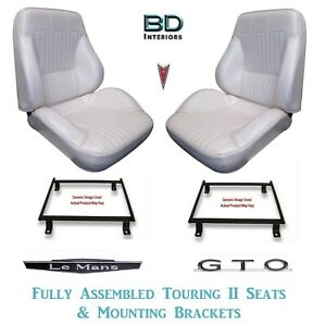 1968 Lemans Gto Touring Ii Front Bucket Seats Assembled With Brackets