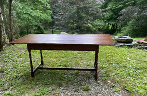 D R Dimes Pine Salisbury Harvest Kitchen Dining Table H Stretchers Bread Boards
