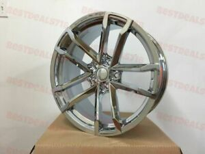 New Set 20x9 10 Staggered Chrome Zl1 41 Style Rims Wheels Fits Ss Lt Rs Chevy