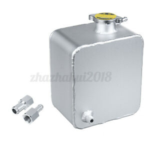 Universal 2 5l Water Coolant Radiator Overflow Expansion Recovery Tank Aluminum
