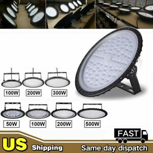Led High Bay Light 50w 100w 200w Warehouse Factory Shop Lighting Commercial Lamp
