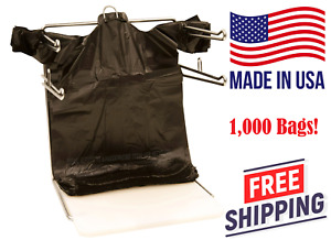 T Shirt Bags 1000 Plastic Bags Black Grocery Shopping Carry Out Recyclable New