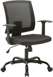 Clatina Mid back Mesh Office Desk Chair With Lumbar Support And Armrest Swivel