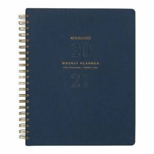 At a glance Signature Weekly monthly Planner 8 1 2 X 11 Navy Yp90520