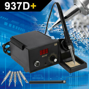 937d Soldering Station Esd Rework Smd Welding Solder Iron Tool Precision 60w Us