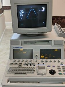 Phillips Sonos 5500 Ultrasound Machine With Probes Tapes Workbooks sheets