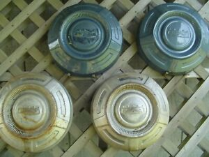 4 Vintage Ford 16 In Pickup Truck Dog Dish Center Cap Hubcaps Wheel Covers 3 4