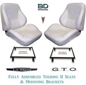 1969 Lemans Gto Touring Ii Front Bucket Seats And Adapter Brackets