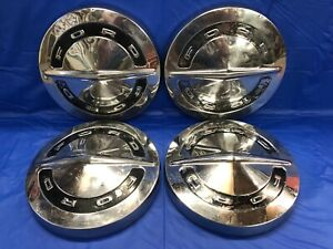 Vintage Set Of 4 1964 66 Ford Dog Dish Hubcaps F100 Galaxie Poverty Fomoco