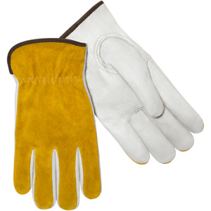 Steiner Premium Grain Cowhide Leather Work Safety Back Med Drivers Gloves 0239 m