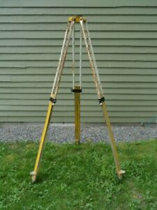 Tripod For Surveyor Surveying Transit Metal With Wood Legs