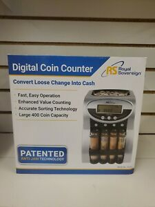 Change Coin Counter Sorter Machine Fast Sorting Digital Lcd Money Change New