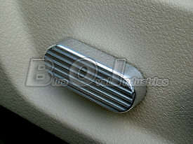 2005 2009 Ford Mustang Grooved Chrome Billet Seat Side Adjustment Knob Cover