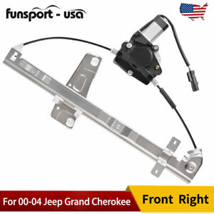 Front Passenger Right Window Regulator With Motor Fits 00 04 Jeep Grand Cherokee