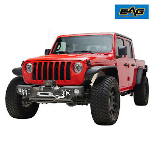 Eag Stubby Front Bumper Modular With Winch Plate Fit For 20 21 Jeep Gladiator Jt