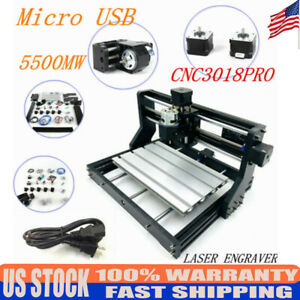 Cnc 3018 Pro Machine Router 3 Axis Engraving Diy Wood Milling Cut 5500mw Laser