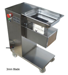 Techtongda 110v Qe Commercial Stainless Meat Slicer Machine With 3mm Blade