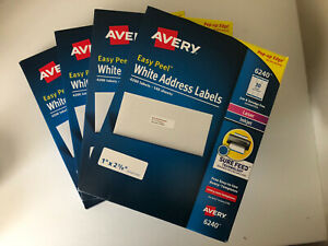 Avery Easy Peel White Address Labels 6240 5160 8160 16 800 Labels 4 X 4200