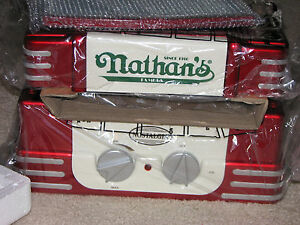 Nib Nathan s 50s Style Hot Dog Roller Machine Warmer Cooker Grill