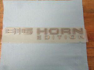 New Oem Dodge Ram Truck Big Horn Edition Chrome Nameplate Emblem Badge Sa15