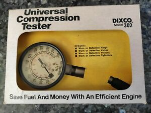 Vintage Dixco Professional Compression Tester Model 302 Dixco Made In Usa W Box