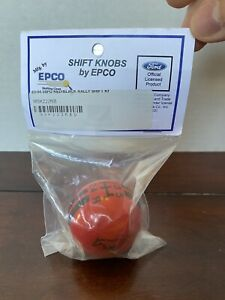 Ford Mustang 5 Speed Epco Shift Knob Red Black Stripes