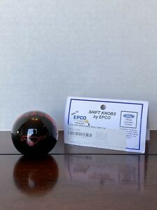 Ford Mustang 5 Speed Epco Shift Knob Black Red Stripes